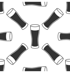 Glass of beer icon seamless pattern on white vector image