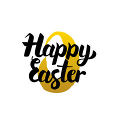 happy easter handwritten lettering vector image