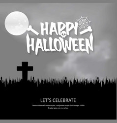happy halloween invitation with creative design vector image