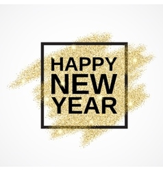 Happy New Year on gold glitter background vector