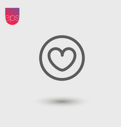 heart simple icon emblem pictogram clipart vector image