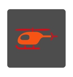 Helicopter Rounded Square Button vector image