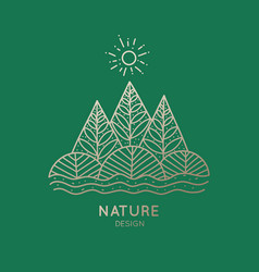 icon nature vector image
