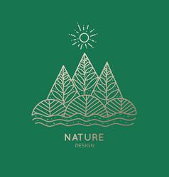 Icon nature vector