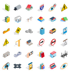 Innovation icons set isometric style vector