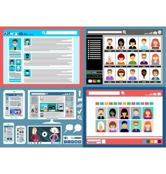 Internet communication vector image