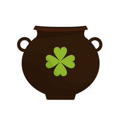 Irish pot with money vector