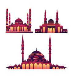 islamic ramadan theme mosque gradient collection vector image
