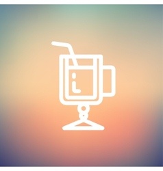 Lime juice thin line icon vector image