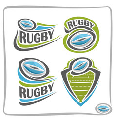 Logo rugball vector