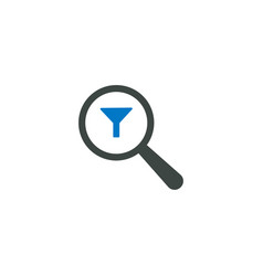 magnifying glass icon filter icon vector image