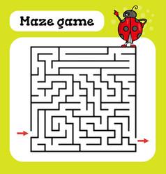 maze game for children cute cartoon worksheet vector image