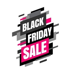 Mega sale banner Black and pink colors vector image