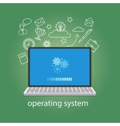 Operating system softwear vector image