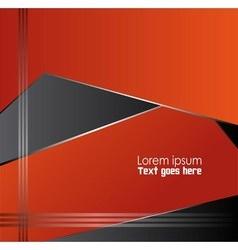 Orange black background design vector image