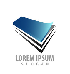 paper pile logo concept design symbol graphic vector image