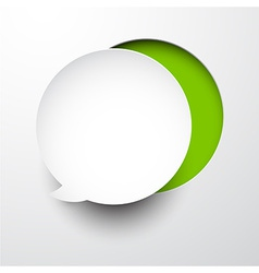 Paper white speech bubble round note vector