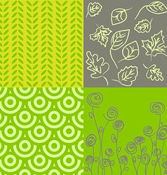 Patterns in grey and green vector