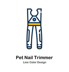 Pet nail trimmer line color icon vector