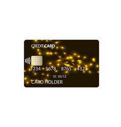 Plastic credit card vector