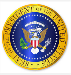 presedent seal depiction vector image