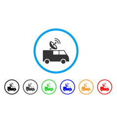 Radio control car rounded icon vector