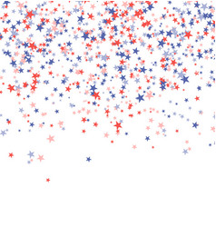 Red blue and white stars for holiday vector