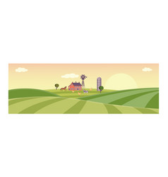 Rural background green grass field vector