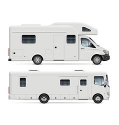rv camper vans side view vector image