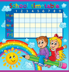 School timetable thematic image 2 vector