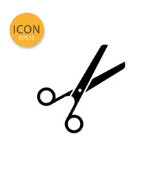 scissors icon isolated flat style vector image