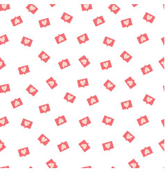 Seamless pattern with love notification symbol vector