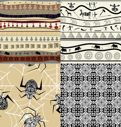 Set of a patterns tribal pattern vector image