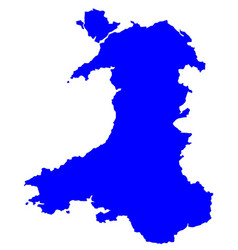 silhouette map of wales vector image