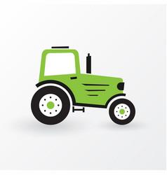 simple green farm tractor vector image