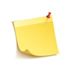 Sticky notes on white vector image
