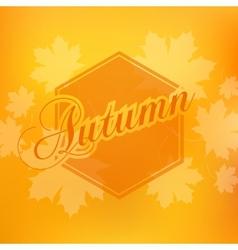 Stylish Autumn seasonal card design vector image