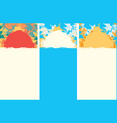 Summer travel banner with color spots and splashes vector