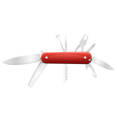 swiss knife for diy vector image