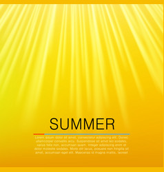 Warm yellow sun beam summer concept vector