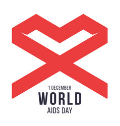 world aids day 1 december red geometric loop vector image
