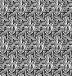 Zentangle pattern black and white ornamental vector image