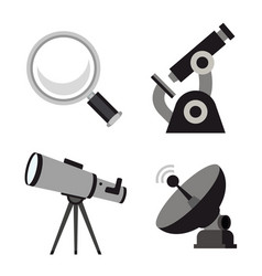 zoom tool search science microscope icon vector image