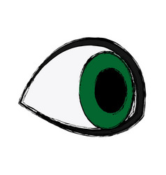Eye look watch vision optical icon vector