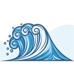 ocean wave vector image vector image