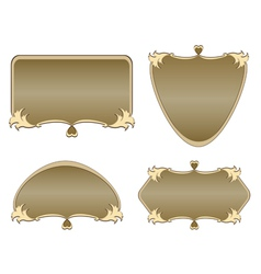 set of labels of various shapes vector image