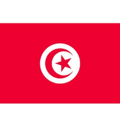 tunisian flag vector image vector image