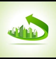 Eco cityscape -go green concept vector image vector image