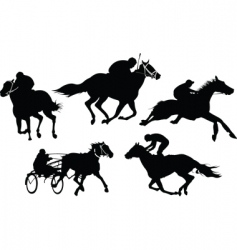 horse racing vector image vector image