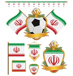 iran flags vector image vector image